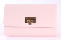 Dámska spoločenská kabelka (HL3152) - bledoružová (22x14x6 cm)