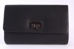 Dámska spoločenská kabelka (HL3152) - čierna (22x14x6 cm)