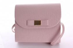 Dámska spoločenská kabelka trblietavá (18x16x5 cm) - ružová