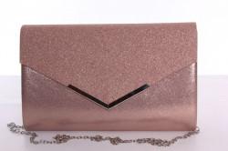 Dámska spoločenská kabelka trblietavá (9076) - staroružová (27x18x4,5 cm)