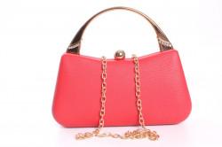 Dámska spoločenská kabelka (ZL2072) - červená (9x20x6 cm) #1