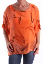Dámska vzorovaná blúzka - oranžová