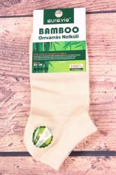 Dámske bambusové členkové ponožky ND859 - béžové