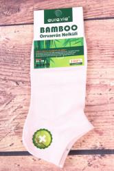 Dámske bambusové členkové ponožky ND859 - bledoružové
