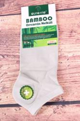 Dámske bambusové členkové ponožky ND859 - bledosivé