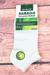 Dámske bambusové členkové ponožky ND859 - bledozelené