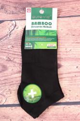 Dámske bambusové členkové ponožky NND835 - čierne