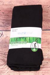 Dámske bambusové pančuchové nohavice (NHZ8010) - čierne
