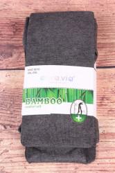 Dámske bambusové pančuchové nohavice (NHZ8010) - sivé