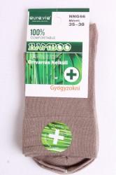 Dámske bambusové zdravotné ponožky (v. 35-38) - bledohnedé
