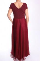 Dámske dlhé spoločenské šaty (38463) - bordové #1