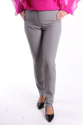Dámske elastické nohavice pepita TESA CLASSIC - čierno-biele D3