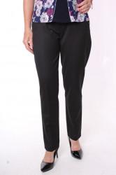 Dámske elastické nohavice s opaskom (2115) - čierne