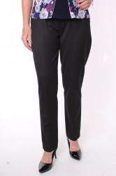 Dámske elastické nohavice s opaskom (5004) - čierne