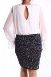 Dámske elastické šaty (č. 38353) - tmavomodro-biele D3 #1