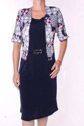 Dámske elastické šaty s imitáciou kabátika