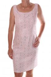 Dámske elastické spoločenské šaty vzorované - ružovo-strieborné