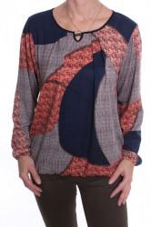 Dámske elastické tričko s ozdobou VZOR 1. - farebné D3