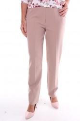 Dámske elegantné elastické nohavice s opaskom - béžové