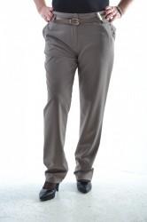 Dámske elegantné nohavice - béžové D3