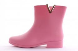 Dámske gumené čižmy - ružové (v. 3 cm)