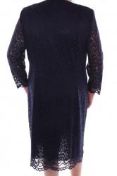 Dámske krajkové šaty - tmavomodré #1