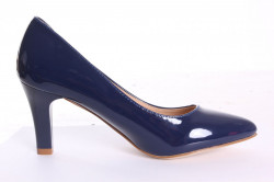 Dámske lodičky S.S A661-4 lakované - modré (v. 7,5 cm) #1