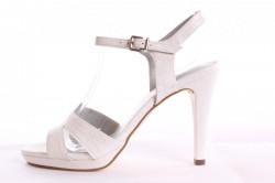 Dámske sandále TAMARIS  (1-28007-20 139) - strieborno-biele