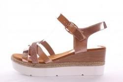 285a4361e363 Dámske sandále (WD53) - bronzové (v. 6 cm)
