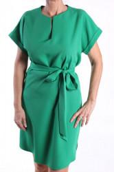 Dámske šaty bez rukávov a s opaskom BODOO - zelené D3