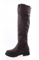 Dámske semišové čižmy (QCO2P) - tmavosivé (45 cm, 3,5 cm)