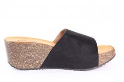 Dámske šľapky na platforme SEASTAR (G180) - čierne (v. 6 cm) #1