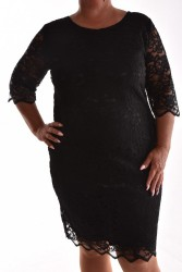 Dámske spoločenské čipkované šaty VZOR 2. - čierne d902abda990