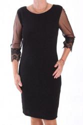 Dámske spoločenské elastické šaty (38260) - čierne