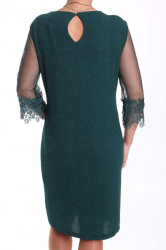 Dámske spoločenské elastické šaty nadmerné (38361) - kráľovské modré #1