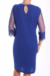 Dámske spoločenské elastické šaty nadmerné (38361) - tmavozelené #1
