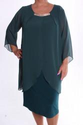 Dámske spoločenské elastické šaty so silonom VZOR 4. - zelené