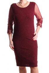Dámske spoločenské šaty (č. 38260) - bordové D3