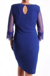 Dámske spoločenské šaty (č.38260) - kráľovské modré D3 #1