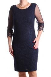 Dámske spoločenské šaty (č. 38260) - tmavomodré D3