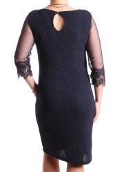 Dámske spoločenské šaty (č. 38260) - tmavomodré D3 #1