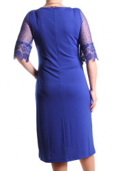 Dámske spoločenské šaty (č. 38416) - kráľovské modré D3 #1