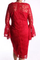 Dámske spoločenské šaty čipkované (č. 38429) - červené D3 #1