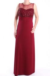 Dámske spoločenské šaty dlhé (č. 37072) - bordové D3
