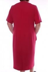 Dámske spoločenské šaty kombinované s krajkou - bordové #1