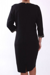 Dámske spoločenské šaty s korálkami - čierne D3 #1