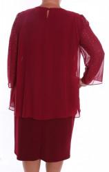 Dámske spoločenské šaty so silonom (37087) - bordové D3 #1