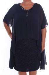 Dámske spoločenské šaty so silonovým vrchom a retiazkou
