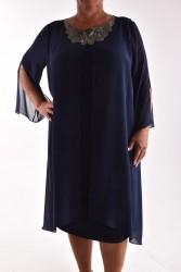Dámske spoločenské šaty VZOR 5 - tmavomodré