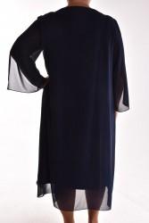 Dámske spoločenské šaty VZOR 5 - tmavomodré #1